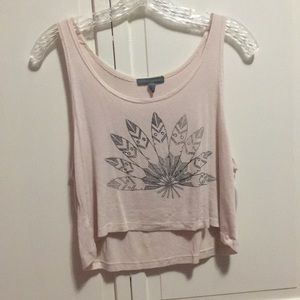 Tops - Light pink crop tank top